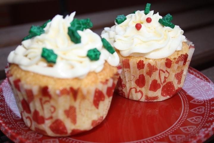 cupcakes de vainilla decorados de navidad 3