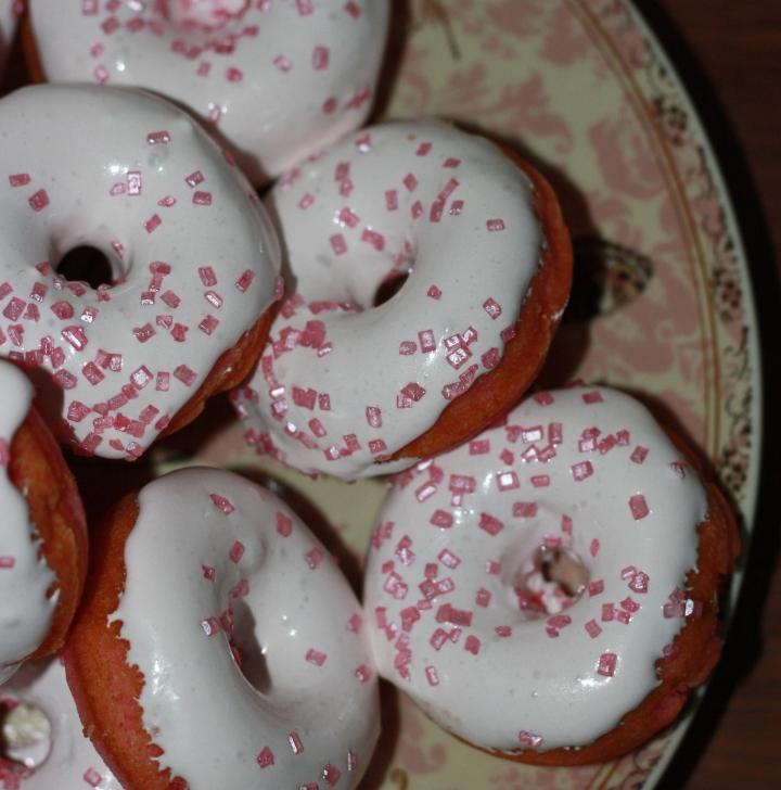 Mini Donuts de fresa azucarglassymas