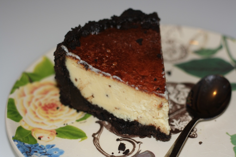 Cheesecake de chocolate blanco y Oreo